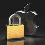 Apple Logo and Brass Padlock