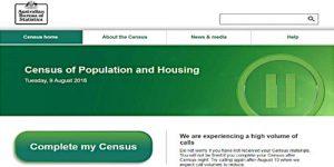 9th August 2016 Australian Census