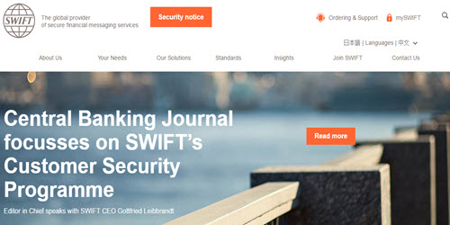 SWIFT shows flaws in banking security infrastructure