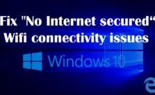 No internet secured WiFi