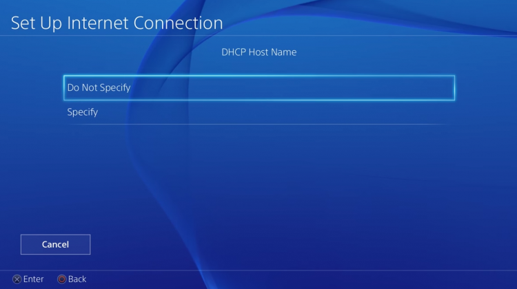 ps4 dns dhcp step 4