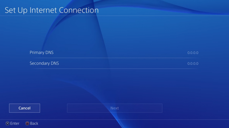 ps4 primary dns