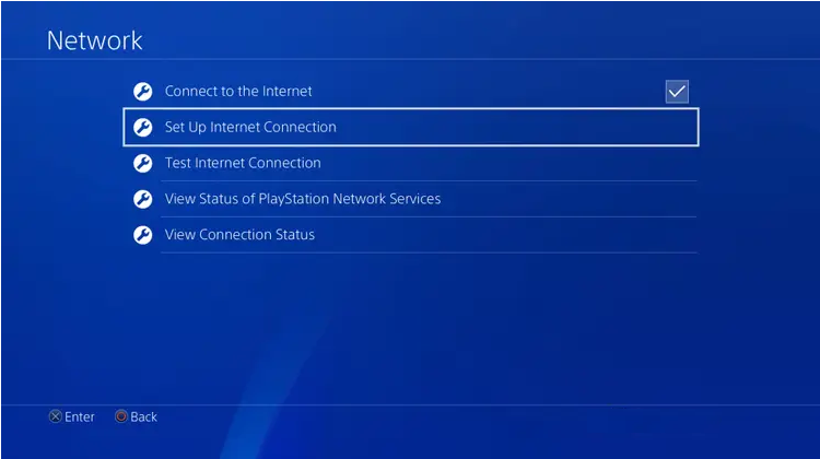ps4 set up internet connection dns step 2