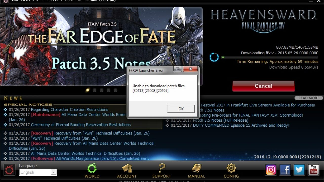 How to fix Final Fantasy XIV issue - Unable to download