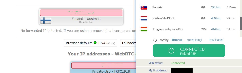 VPNArea leak test