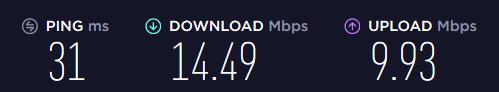 VPNArea speed 1