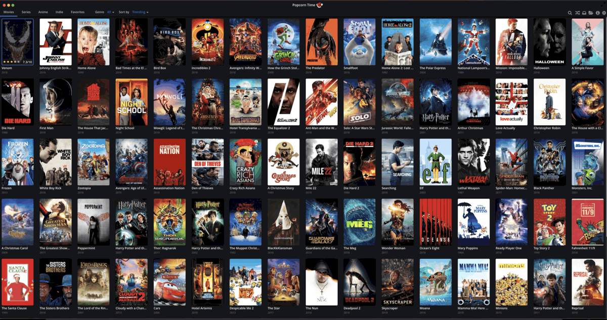 Popcorn Time on PS4