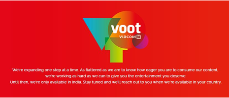 vooot blocked outside of india